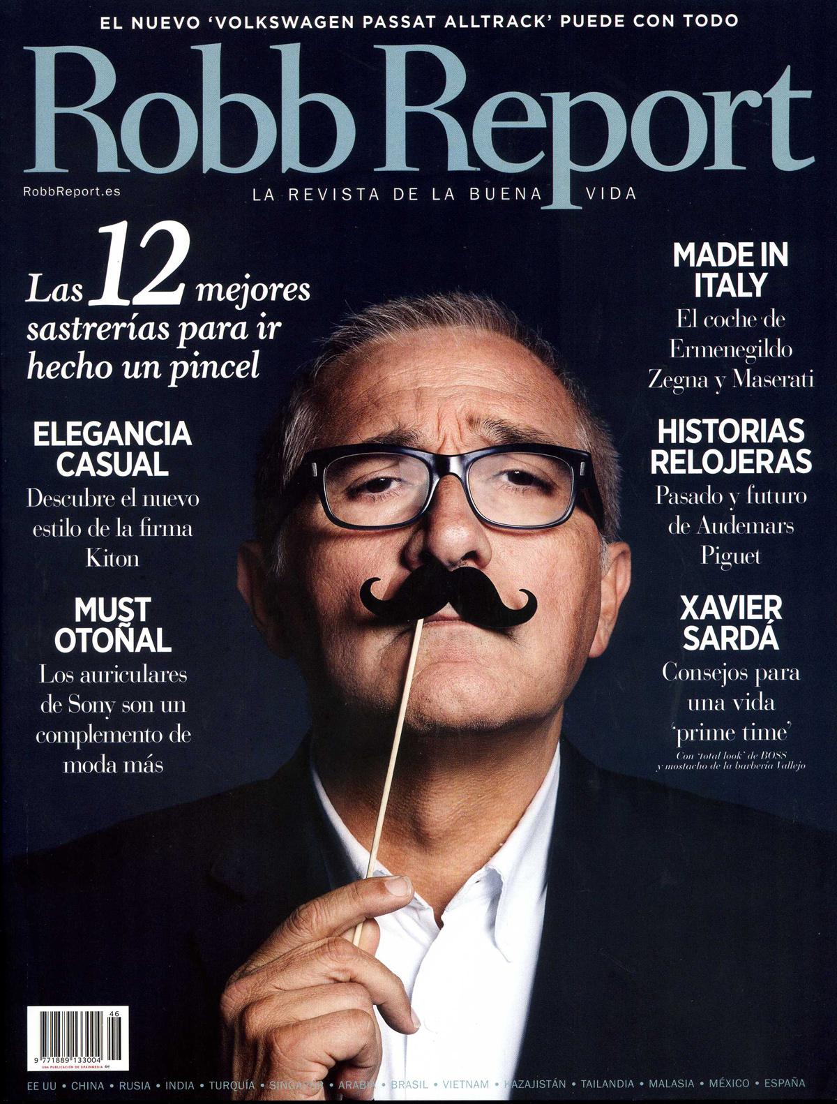 Portada Robb Report octubre 2015 - las 12 mejores sastrerías para ir como un pincel - Javier de Juana